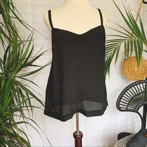 ANTHROPOLOGIE Black 100% Silk Camisole